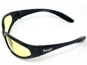 FOG3 Yellow Tinted Unbreakable Anti-Fog Sunglasses
