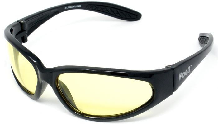 FOG3 AE1 Yellow Tinted Motorcycle Glasses